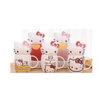 陆捌壹肆 可爱卡通hello kitty KT陶瓷杯 牛奶杯创意水杯 马克杯子 咖啡杯(一个装)