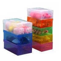 卡秀10个 优质拉丝加厚透明鞋盒 女士鞋盒收纳盒
