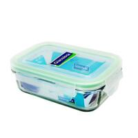 GLASS LOCK 三光云彩 韩国进口钢化玻璃乐扣可微波保鲜盒饭盒400ML  D1405