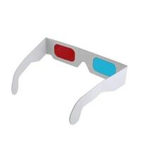卡纸3D眼镜 3D红蓝纸眼镜 纸质3D眼睛 纸制3D红蓝眼镜两幅装