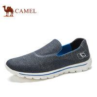 camel骆驼男鞋 新品日常透气轻便套脚休闲健步鞋时尚布鞋