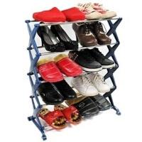 卡秀不锈钢五层组合鞋架 三色可选粉色均码 WK902