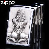 芝宝(Zippo)打火机 镀铬拉丝/欧版贴章  2.002.549 束缚女孩 SM女郎
