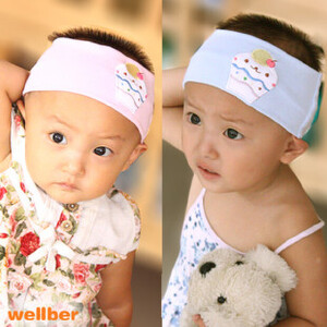 威尔贝鲁 宝宝发带蛋糕发带婴儿空顶帽子