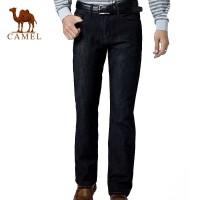 CAMEL骆驼 男装牛仔裤 厚绒里 商务休闲直筒牛仔裤子2F47003