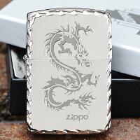 美国芝宝Zippo打火机 复刻版磨边镀银 1941磨边银冰龙