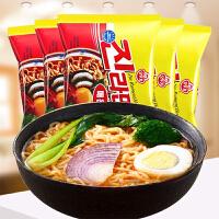 韩国进口食品不倒翁奥土基真拉面辣味120g*5连包拉面速食面