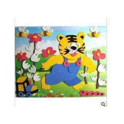 儿童益智玩具 立体拼图 手工拼图 海绵纸eva拼图玩具 小老虎
