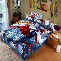 梵巢家纺 全棉卡通活性印花四件套 纯棉儿童双人床动漫上下床床上用品四件套 蜘蛛侠 冰雪系列