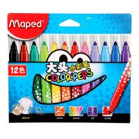 马培德MAPED 12色大头水彩笔 儿童彩色画笔涂鸦文具 846020CH