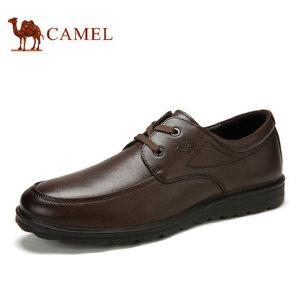 camel骆驼男鞋 春季新款 商务休闲鞋 舒适皮鞋男圆头耐磨