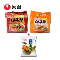 韩国进口食品 农心辛拉面 小浣熊辣+原味五连包+油果96g袋