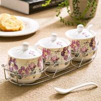 爱屋格林美式陶瓷调味罐调料盒调味瓶三件套装创意家居厨房用品