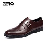 零度尚品新款布洛克男鞋雕花英伦商务正装皮鞋男士婚鞋F8933