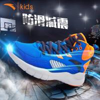 安踏儿童篮球鞋新款秋季高帮防滑篮球鞋减震运动训练鞋31734110