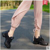 牛皮跳操鞋皮练功鞋拉丁鞋成人女鞋两底大码  可礼品卡支付