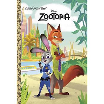 《预定英文原版疯狂动物城小金书zootopia
