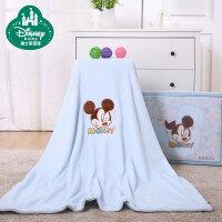 迪士尼宝宝夏凉毯婴儿毛毯 新生儿抱毯春夏秋薄款双层儿童盖毯