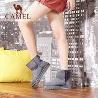 camel骆驼女鞋 保暖雪地靴加厚防寒短靴简约平底女靴子