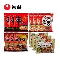 韩国进口食品 农心 辛拉面经典组合 12袋装 香菇 小浣熊 鱿鱼 炸酱面口味