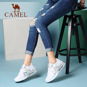 camel骆驼女鞋 新款 舒适时尚慢跑鞋 气垫运动女鞋