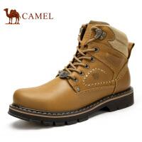 camel骆驼男鞋 新款工装鞋 冬季潮流 高帮大头鞋