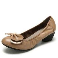 CAMEL骆驼 女鞋 牛皮 时尚中跟女鞋 工作鞋 单鞋 1159600