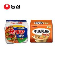 韩国进口食品 农心辛拉面 安城汤面五连包+辣牛肉汤面五连包