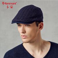 kenmont卡蒙男士休闲帽子鸭舌帽 男士 韩版英伦贝雷帽 男2394