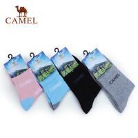 CAMEL骆驼 男女袜子 秋季新品 情侣款运动透气速干袜 2FB3001