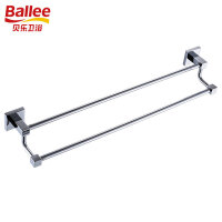 【货到付款】贝乐BALLEE G6210-1全铜双杆毛巾杆浴室挂件浴巾架 60cm