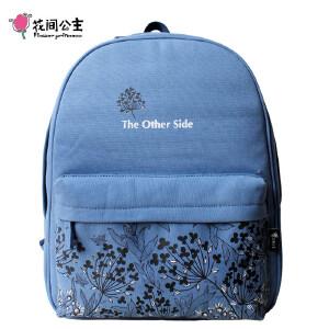 花间公主SIDE双肩包女2017年夏季原创潮书包清新森女学院背包旅行女包