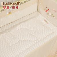 威尔贝鲁 彩棉婴儿床垫 超柔软纯棉宝宝床垫 新生儿加厚款床垫