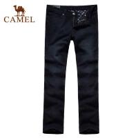 CAMEL骆驼 男装裤子 保暖秋冬新品 加绒休闲牛仔裤2F47008
