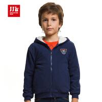 季季乐童装冬装外套大男童摇粒绒加绒外套 BQW51031