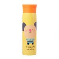 韩版 大容量卡通不锈钢真空保温杯/保冷杯 (M8424) 黄色小猪480ml