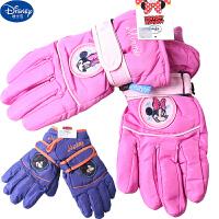 迪士尼米奇儿童手套冬季保暖分指手套小学生中大童户外滑雪手套DS00207