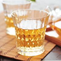 陶瓷故事 水晶啤酒红酒杯 无铅杯子透明钻石果汁玻璃杯 两款可选200ml均码 两只装