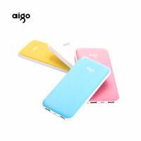 aigo聚合物充电宝10000毫安 超薄女爱国者手机通用移动电源TF100 各色