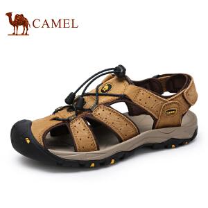 camel骆驼凉鞋 情侣款沙滩鞋 夏季户外休闲 魔术贴凉鞋