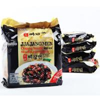 韩国进口方便面八道御用炸酱面200g*4连包炸酱面干拌面泡面