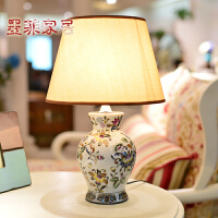 墨菲 纽曼米莱欧式复古田园彩绘陶瓷客厅装饰台灯美式卧室床头灯