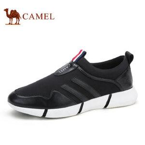 camel骆驼男鞋 新款  个性潮鞋运动风套脚休闲鞋子