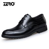 零度尚品正装皮鞋秋季新款时尚打蜡牛皮潮流男鞋尖头男士商务皮鞋F5234