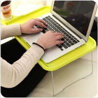 床上用桌塑料电脑桌 笔记本多用折叠桌懒人桌月子餐桌