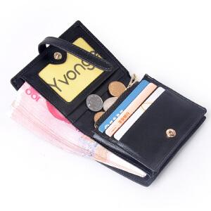 Yvonge韵歌羊皮手工编织女士短款钱包 真皮小女生女式拉链钱夹皮夹手拿包晚宴包