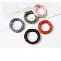 韩国糖果色荧光色毛绒发圈发绳 发饰皮筋