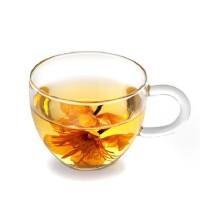 一屋窑 耐热玻璃杯子 花茶杯品茶杯带手柄 防爆裂 90ml 2个装