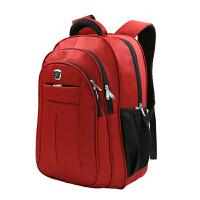 沐阳 MYE06 笔记本电脑背包 商务休闲双肩包 男女大中学生书包 户外旅行包 电脑包 15.6寸多功能双肩包 商务笔记本双肩背包 红色
