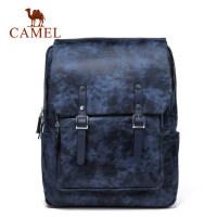 Camel骆驼男包男士双肩包休闲水墨印花背包韩版大容量旅行书包男